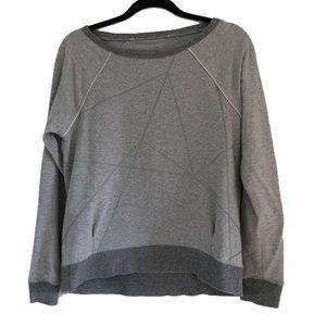 Lululemon | Gray geometric wise neck sweatshirt